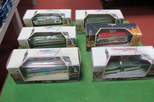 Six Corgi Classic Blackpool Trams, all different, all boxed.