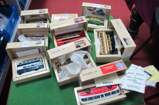Nine Corgi Classic Buses, including five AEC Regent, Guy Arab among others, all boxed Yorkshire