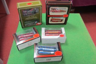 EFE Buses and Trams, including VE Day Commemorative Set, all boxed.