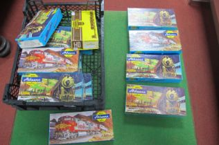 Twelve 'HO' Scale American Outline Eight Wheel Freight Cars, by Athearn, all made up, boxed,