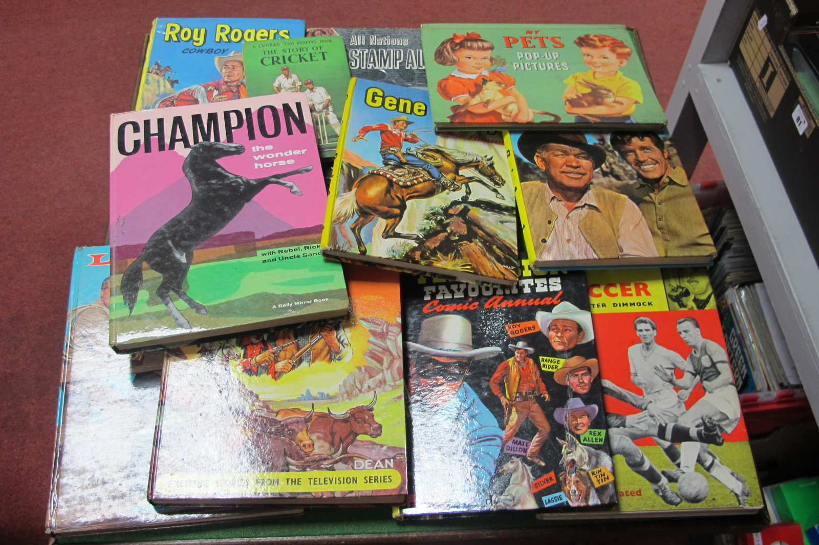 A Small Quantity of 1950's/1960's Children's Annuals, including Rawhide plus a children's stamp