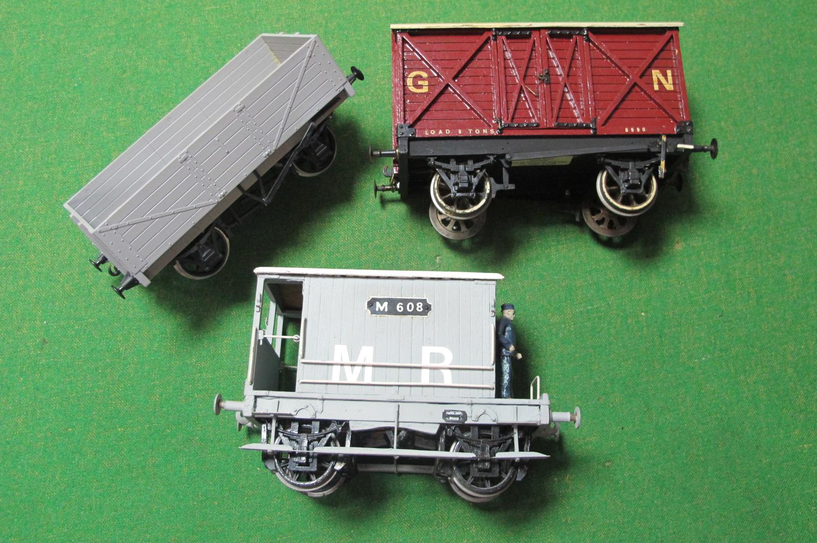 Three Scratch Built Gauge 1 Wagons, including a Midland Railway Guards Van