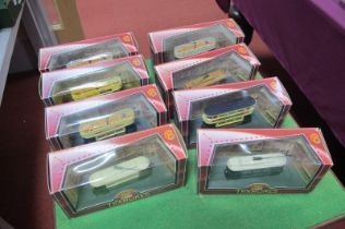 Eight Corgi Tramlines, all different, boxed.