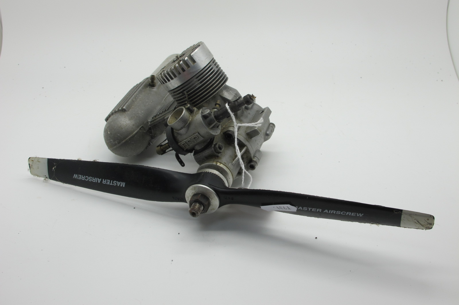 An 'ASP' Model Petrol Aero Engine, used.