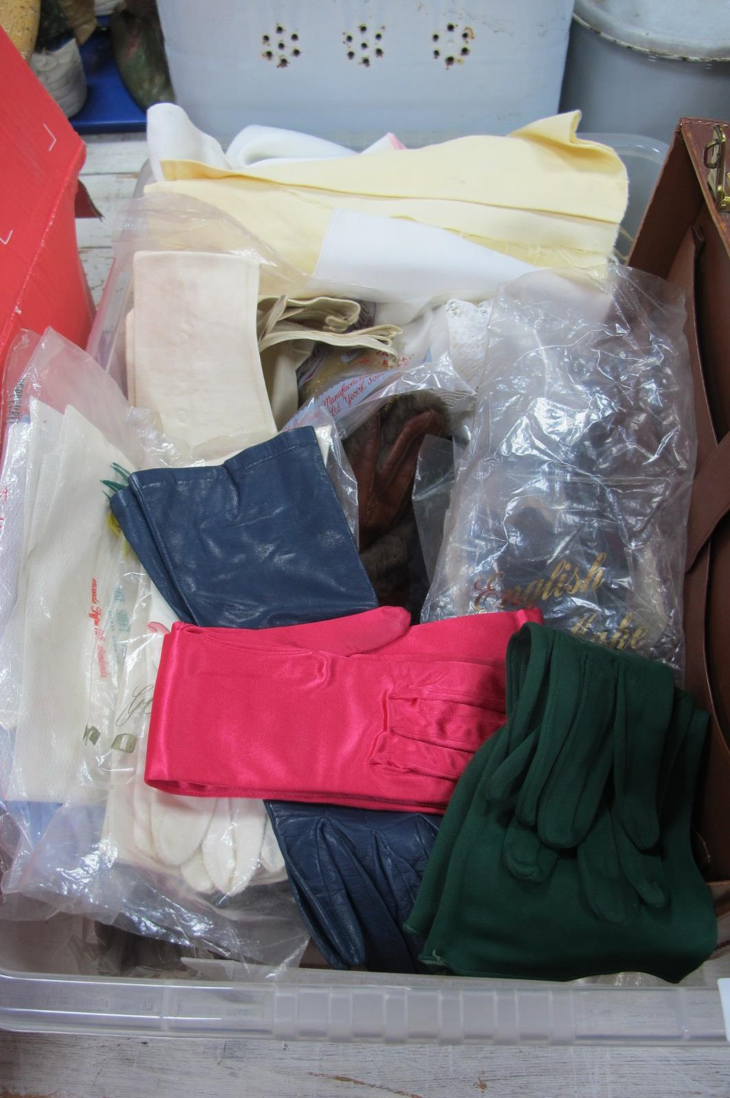 Dents of Worcester, kid and other gloves, leather case etc:- One Box