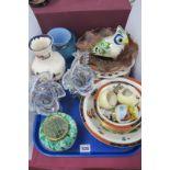 Mason's 'Mandalay' Vase, Locke & Co condiment set (damaged), ribbon plates, glassware, etc:- One