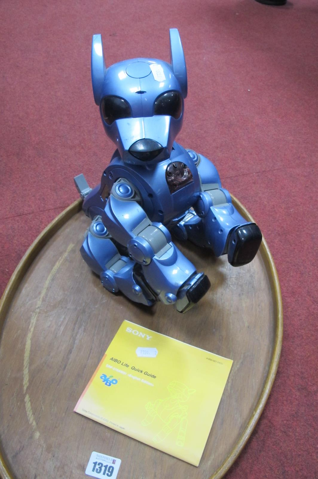 Sony Aibo Life ERF.210AW01 Entertainment Robot, stamp under base 'Tiger', 'Silverit', C760A in a