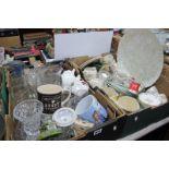 Barratts Tea Service, Sadler jugs, Tetley Tea mug, Derby Thornton's pin tray,s glassware etc:- Two