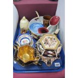 Imari Pottery Tea Service, fruit bowl and paper knife, Grafton trio, etc:- One Tray.