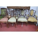 A Set of Six Late XIX Century Early XX Century Mahogany Salon chairs, (two arms and four single),