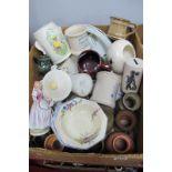 A Sadler Teapot, Purbeck bowl, Johnsons 'Dorado' Dinner plates, Lucky Sweep money box, Ken Dodd