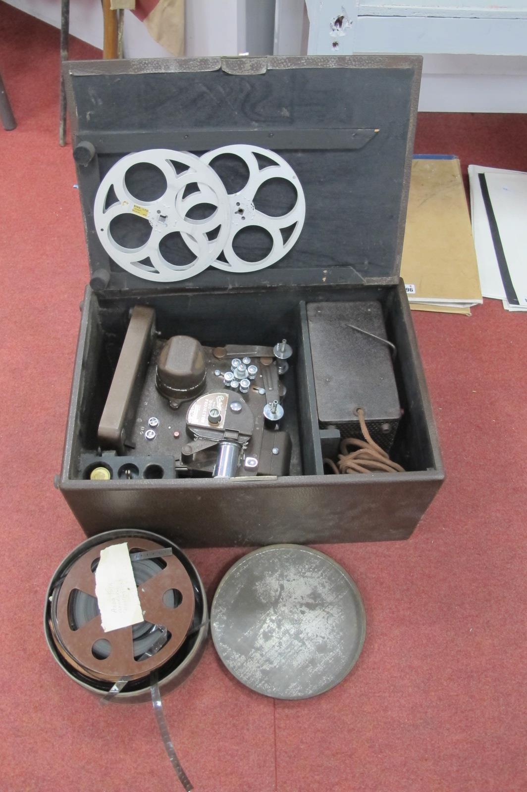 Ensign Duo Projector, made by Houghton Butcher, 9.8 and 16mm having Dallmeyer lens in original