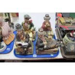 Melody in Motion Ceramic Figures, by Seiji Nakane, each having Waco of Japan musical movement.