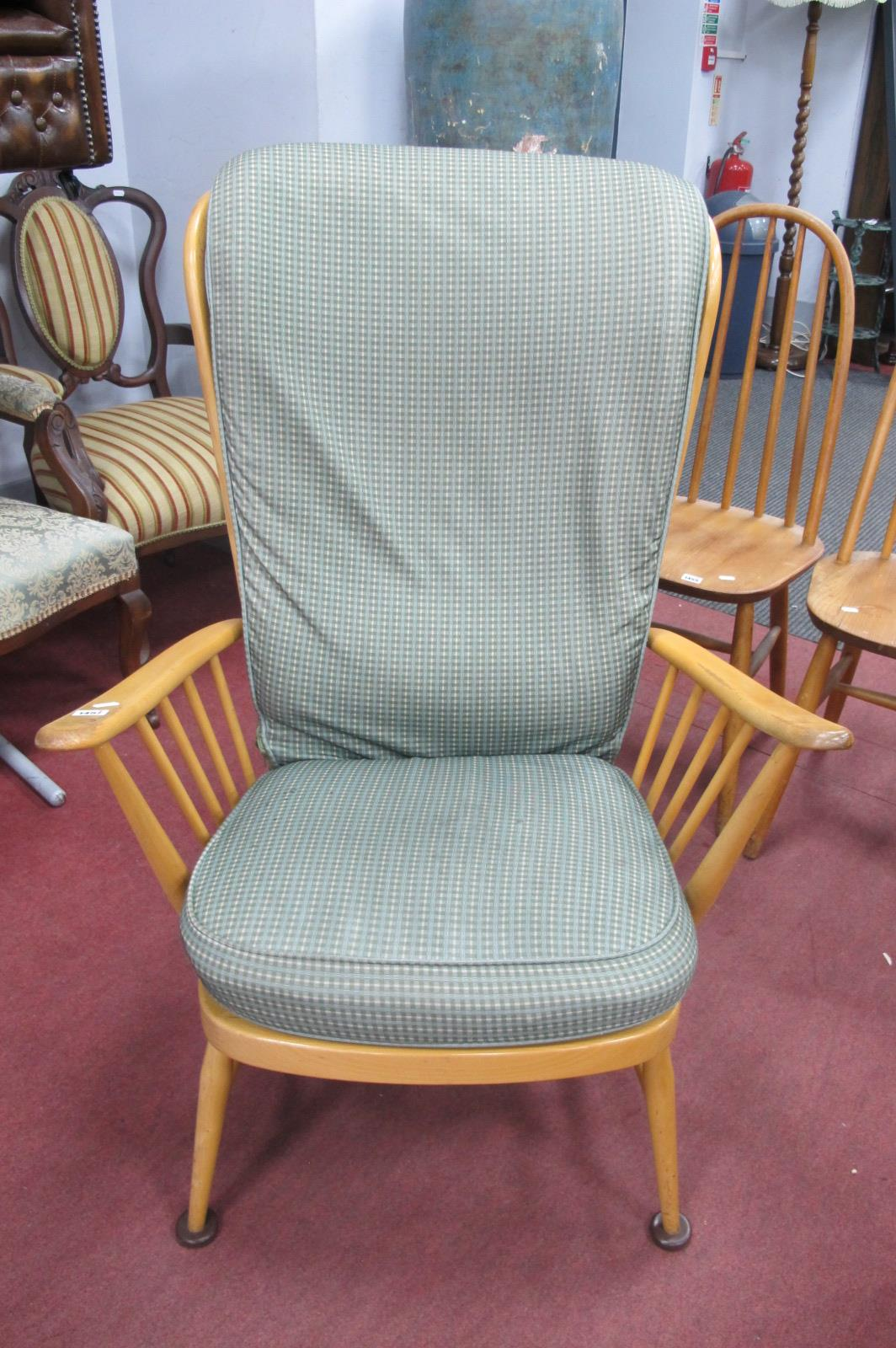 Ercol Easy Chair, with spindle back.