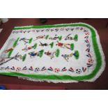 Football - 1970's Blanket, Real Madrid and Valencia pennants.