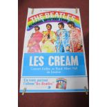 'The Beatles' French Poster, double bill 'Magical Mystery Tour' and Cream Live at Royal Albert Hall,