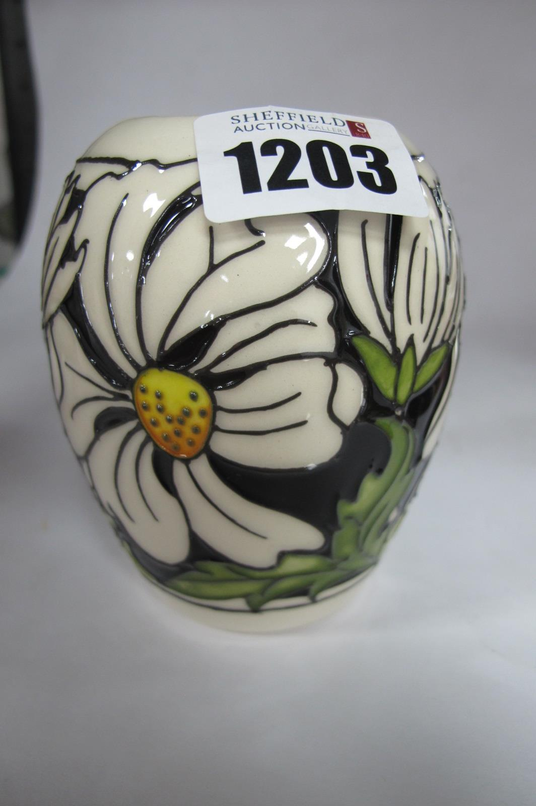 A Moorcroft Vase, painted in the 'Phoebe Summer' design by Kerry Goodwin, shape 102/3, impressed and