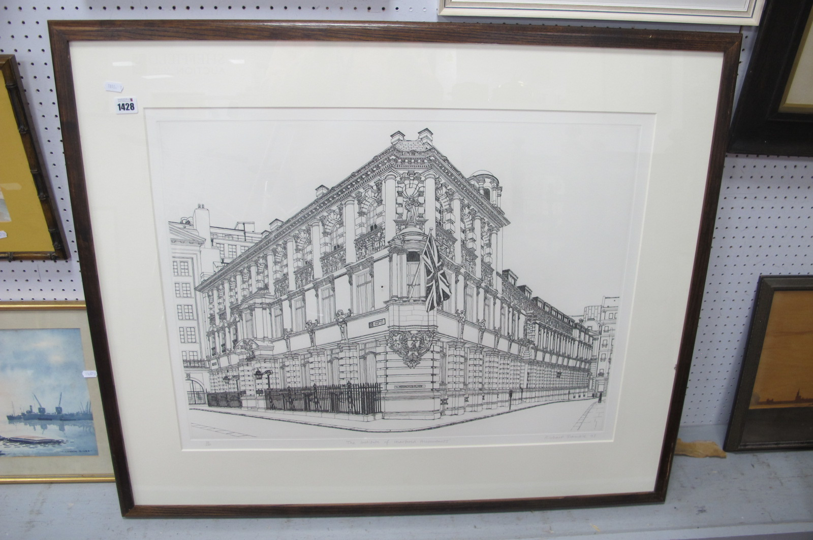 Richard Bramble (Dorset Artist) 'The Institute of Chartered Accountants', Ltd Edition etching of
