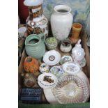 'DPF' Box Poole Vase 25.5cm high, Wedgwood, Coalport, Lovatts and other ceramics:- One Box.