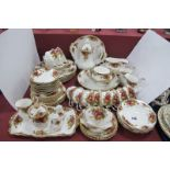 Royal Albert 'Old Country Roses' Table Ware, of approximately sixty eight pieces, including coffee
