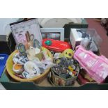 Buttons, toiletries, needlework items:- One Box.