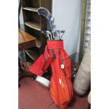 'Taylor Made' Tour Prepared Golf Clubs, in Howson bag; together with trolley.
