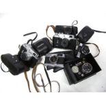 Minolta Hi-Matic G, with Minolta f=38mm lens, Zorki - 4 Camera with Jupiter 8 lens, Minolta Hi-Matic