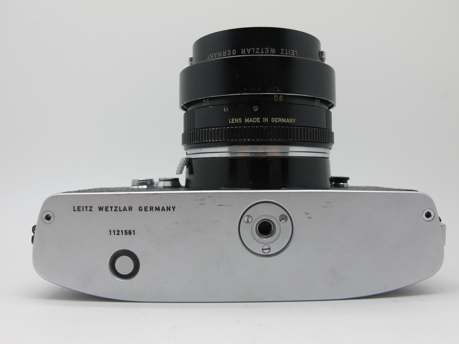 Leicaflex Manual Camera, with Leitz Wetzlar Summicron - R 1:2/50 lens in a black case. - Image 7 of 8
