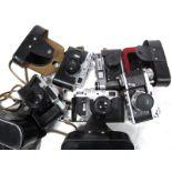 Zenit-E Camera, with Helios - 44 2/58 Lens, DED 5 CCCP Camera with Jupiter - 8 2/50 lens, Zorki - 4K