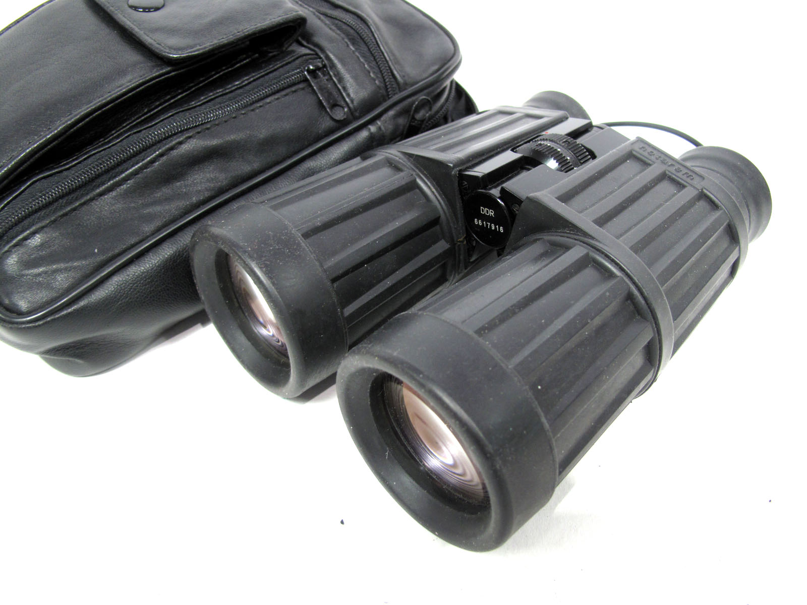 Binoculars Carl Zeiss Jena Notarem, 10 x 40 B in black leather case.