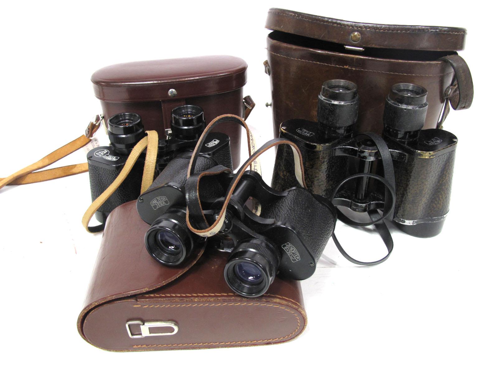 Binoculars Carl Zeiss Delactis, 8 x 40 in leather case, Carl Zeiss Deltrintem 8 x 30 large field 8.5