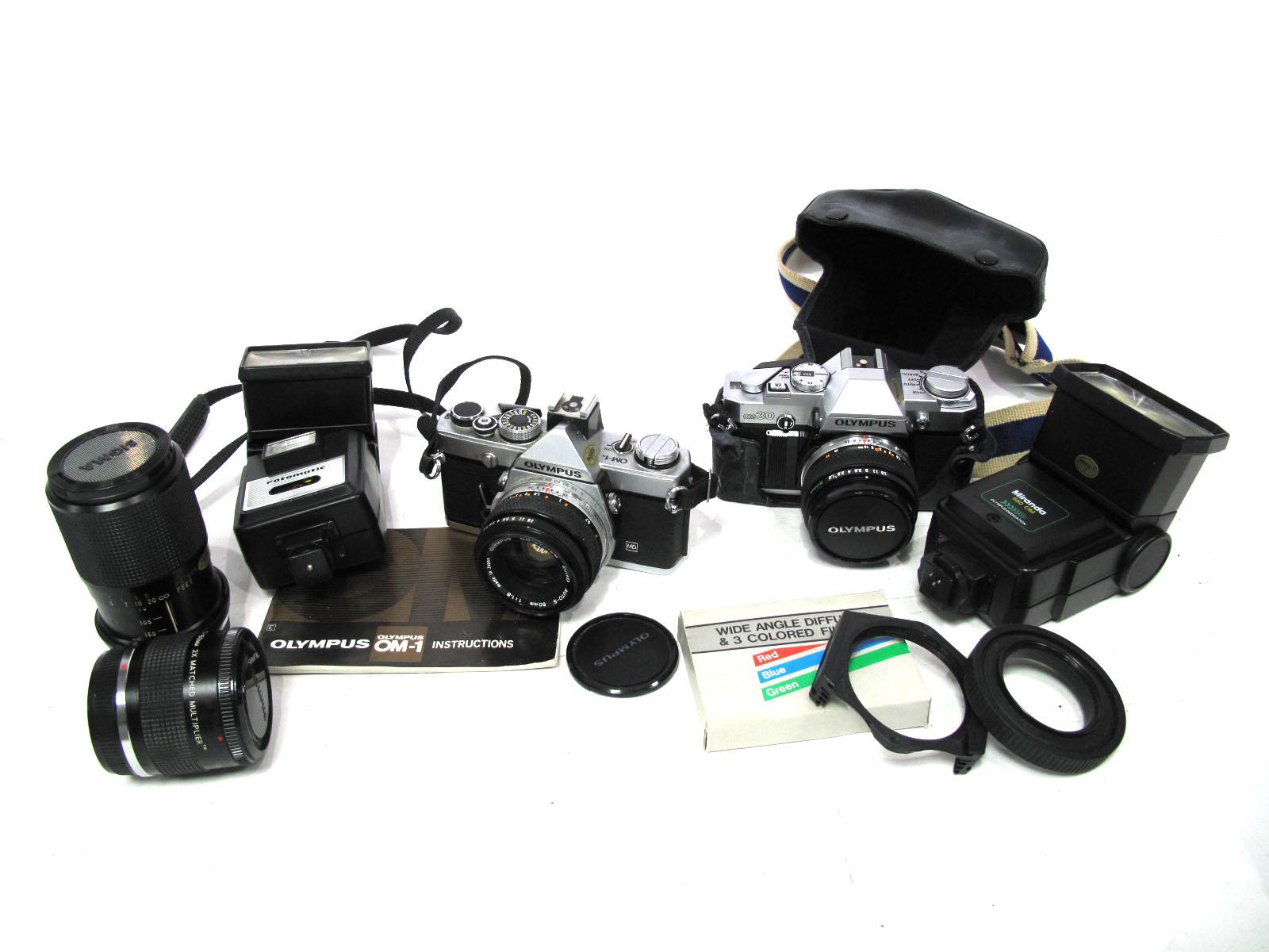 Olympus OM-1 35mm Camera, with OM-System Zuiko Auto-S 50mm 1:1,8, including Vivitar 70-150mm 1:3,8