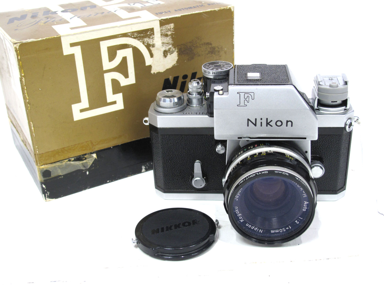 Nikon F 6866981 Camera, with Kogaku Nikkor-H Auto 50mm lens, all boxed.