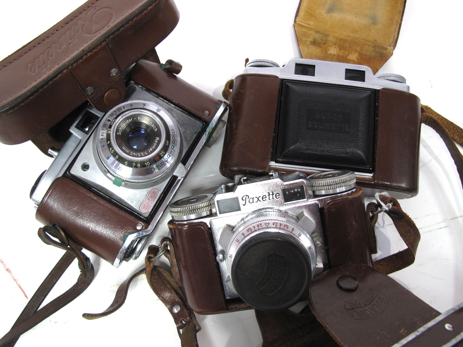 Retinette Camera, with Compur Rapid Lens 45mm, Paxette Camera with Stable - Kata 45mm lens, Super