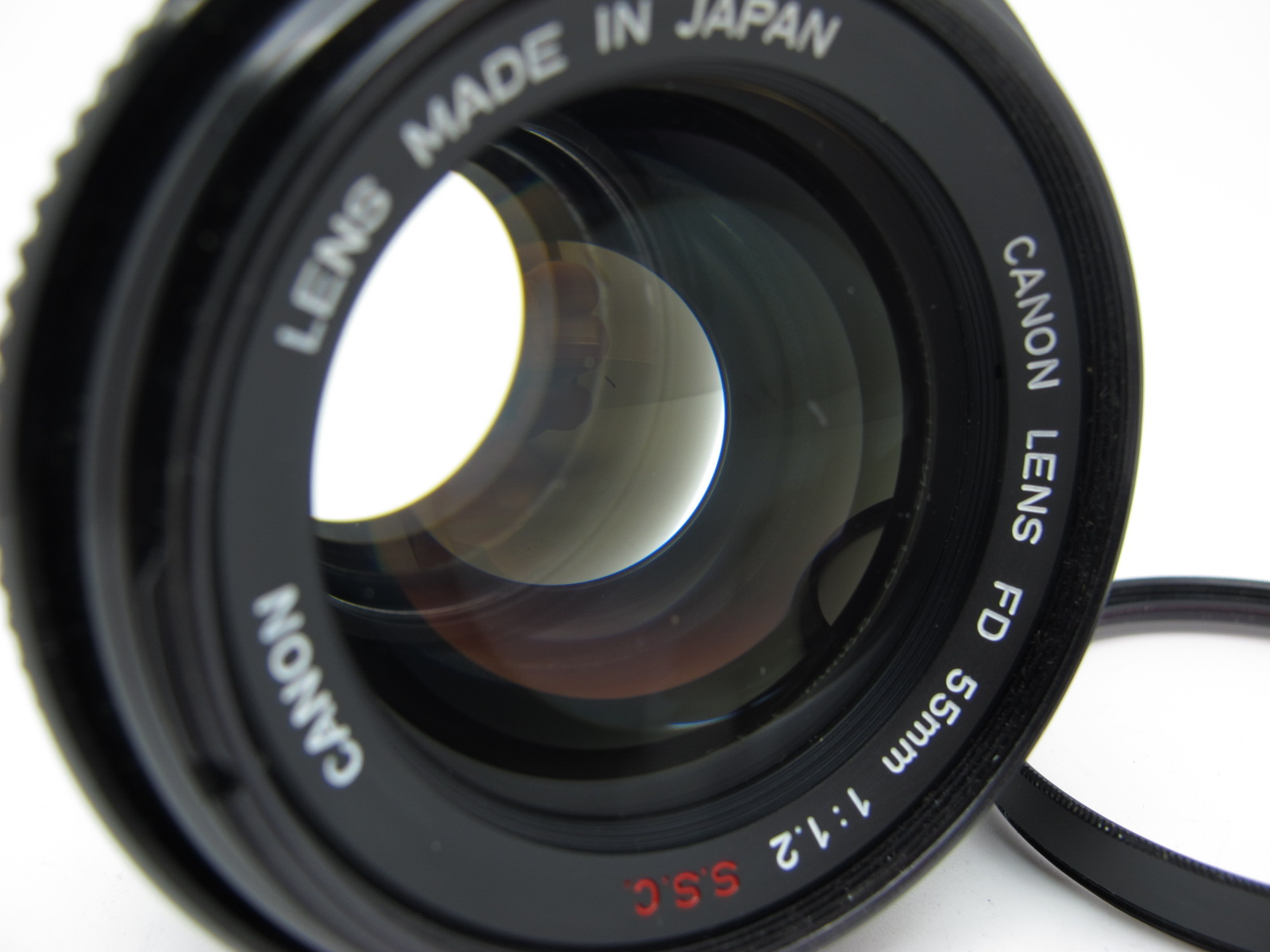 Canon Lens, FD 55mm 1:12 S.S.C. lens, in canvas case. - Image 6 of 6