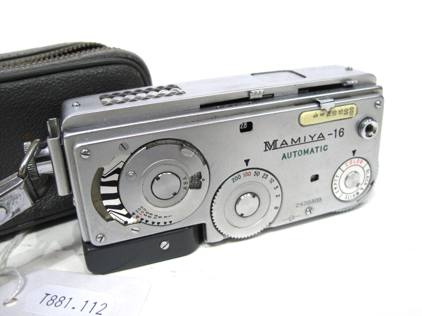 Mamiya-16 Automatic Camera, in case.