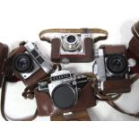 Zeiss Ikon Contina, Agimatic, Zeiss Ikon Contaflex, Exakta camera, with Carl Zeiss lens. (4)