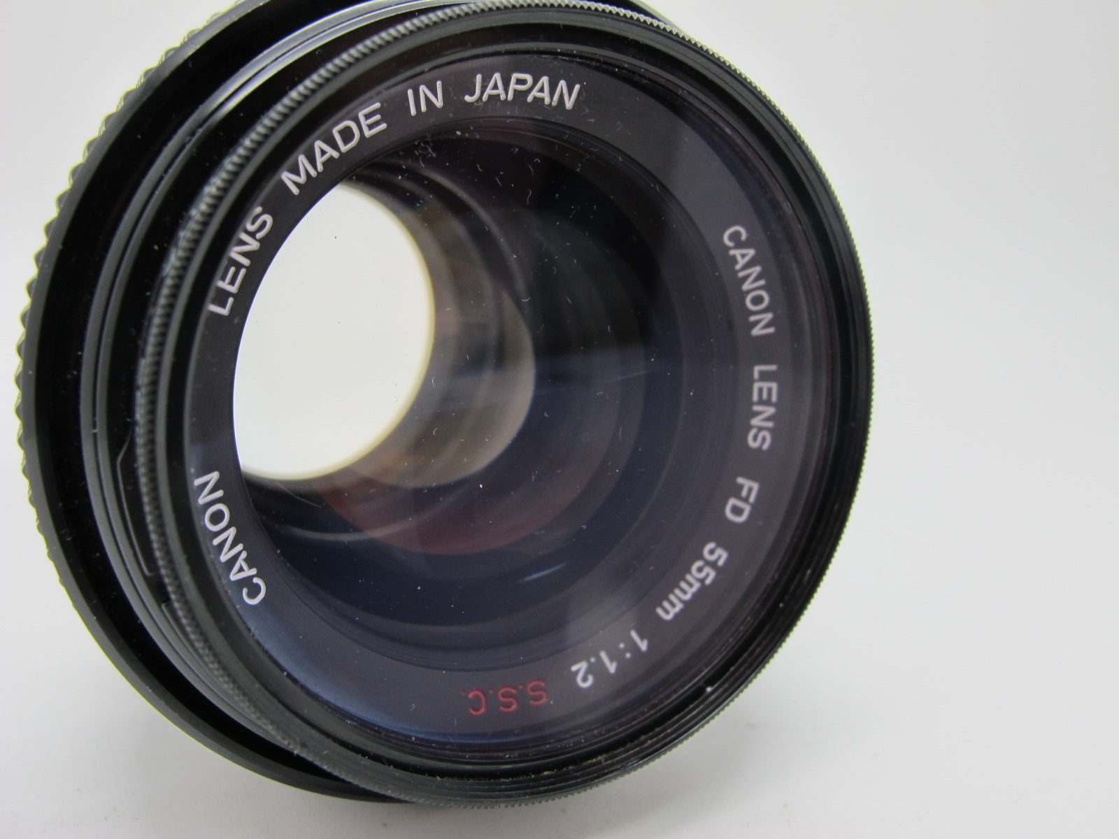 Canon Lens, FD 55mm 1:12 S.S.C. lens, in canvas case. - Image 2 of 6