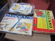 A 1960's Meccano Set No 6 and a 1970's Meccano Motorised Set No 2, both boxed, playworn, unchecked