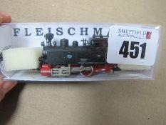 An 'N' Gauge Continental 0-4-0 Locomotive, by Fleischmann.