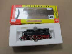 A Continental 'HO' Scale 2-6-2 'DB' 064 389-0 Locomotive, by Fleischmann, used, boxed.