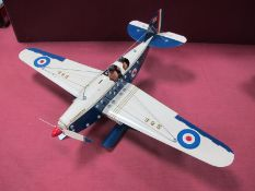 A Meccano Based Model of The SGB Supermarine, single engine, two crew, floats, finished in blue/