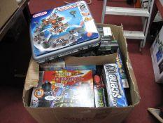 Meccano Multi Models, super construction set (unchecked), a quantity of board games:- One Box. E-Zee