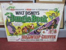 Poster - Double Bill Walt Disney's 'The Jungle Book' & 'Bullwhip Griffin',1967, S. & D.S Ltd printed