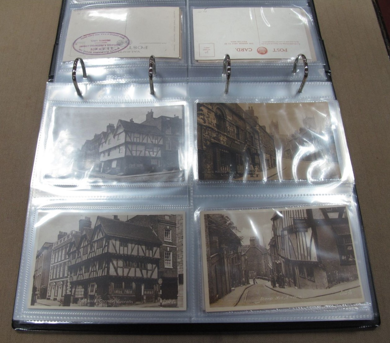 An Album of Over Eighty Picture Postcards, early to mid XX Century of topographical views many of