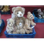 Three Charlie Bears, 'Melody', designed by Heather Lidl, 'AJ' and another unnamed, 34 - 45cm