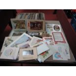 A Box of Mainly Early XX Century Picture Postcards, to include comic greetings, art cards and