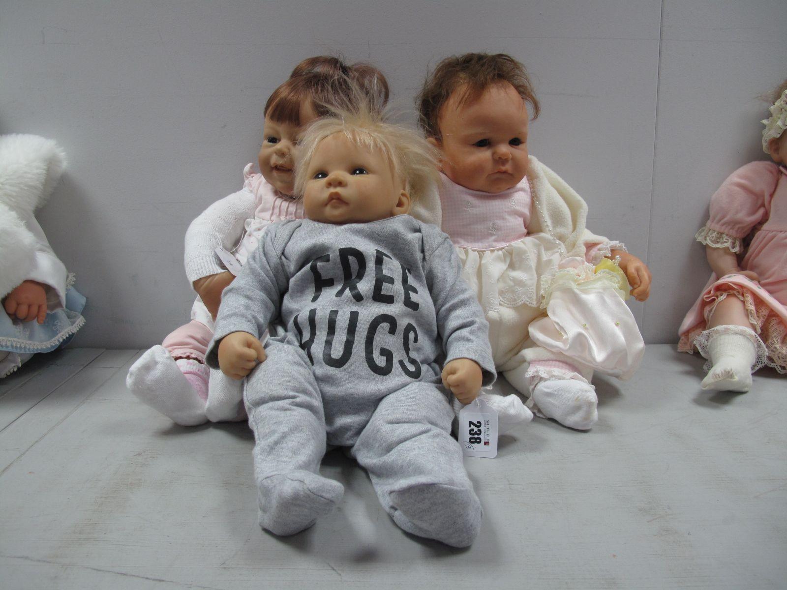 A N De Man Baby Doll, impressed 1799, 41cm high, a Rolanda Heiner baby girl doll, impressed 18, 6,