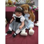 A Lee Middleton Original Doll, by Reira Girl Doll, numbered 519/1200, 56cm high and another