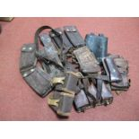 A Quantity of Mainly 2nd Half XX Century Leather Pouches, belts, etc, usually of a Military